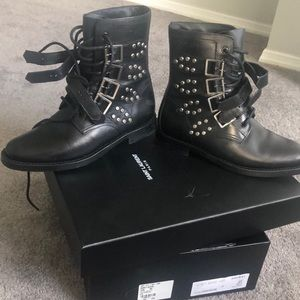 Authentic Saint Laurent combat boots